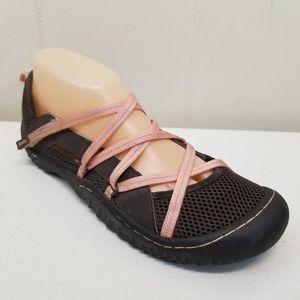 Jambu 9M Water Shoes DIVA Comfort Brown Pink